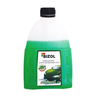 Летний омыватель, аромат Лайма (концентрат 1:3) - Bizol Summer Screen Wash 1:3, 1Л