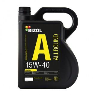 Минеральное моторное масло -  BIZOL Allround 15W-40 5л